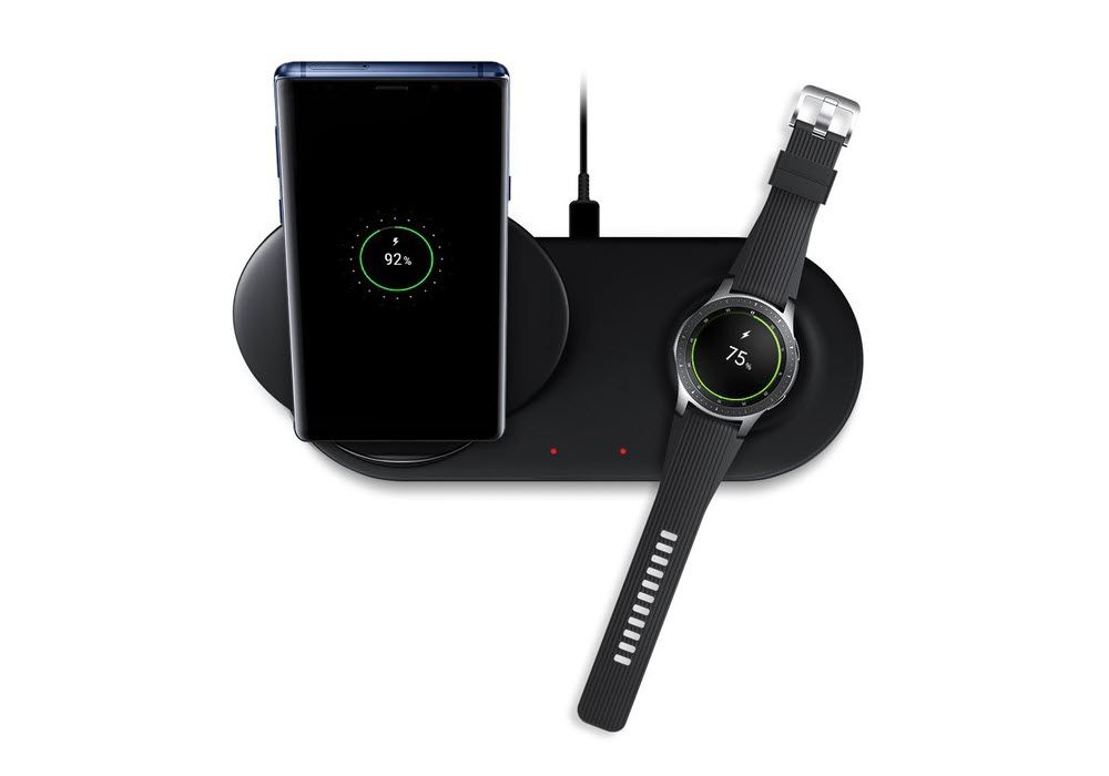 Samsung Wireless Charger Duo Pad With Wall Charger Afc 25w Black (2)