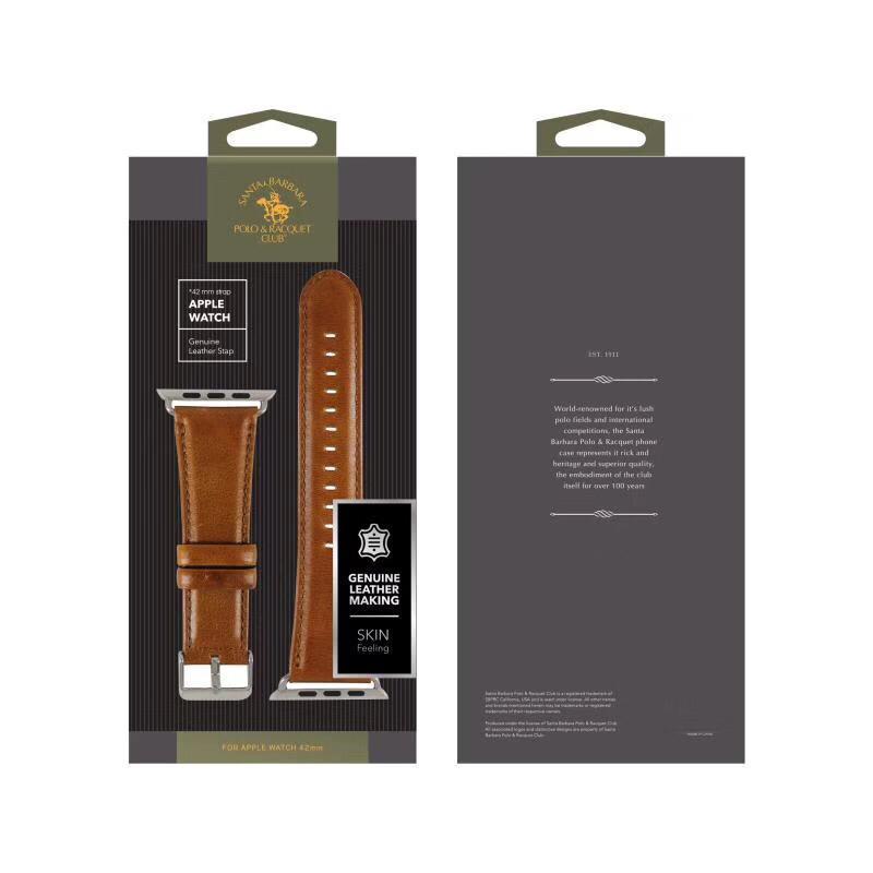 Santa Barbara Polo Racquet Club Genuine Leather Strap For Apple Watch (2)