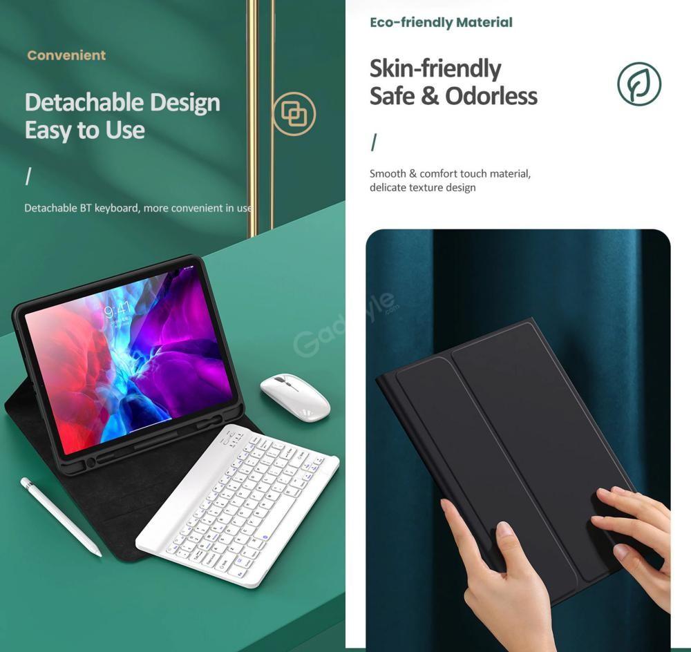 Usams Keyboard Cover for iPad 7/iPad 8 (10.2 inches)