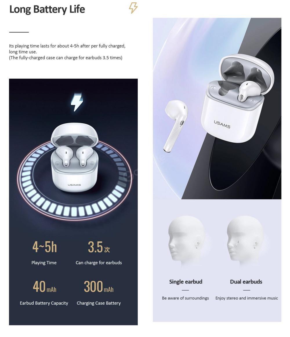 Usams Sy02 Tws Wireless Earbuds (3)