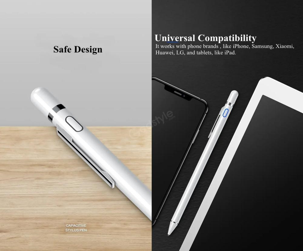 Usams Us Zb057 Active Touch Screen Capacitive Stylus Pen With Pen Clip (1)