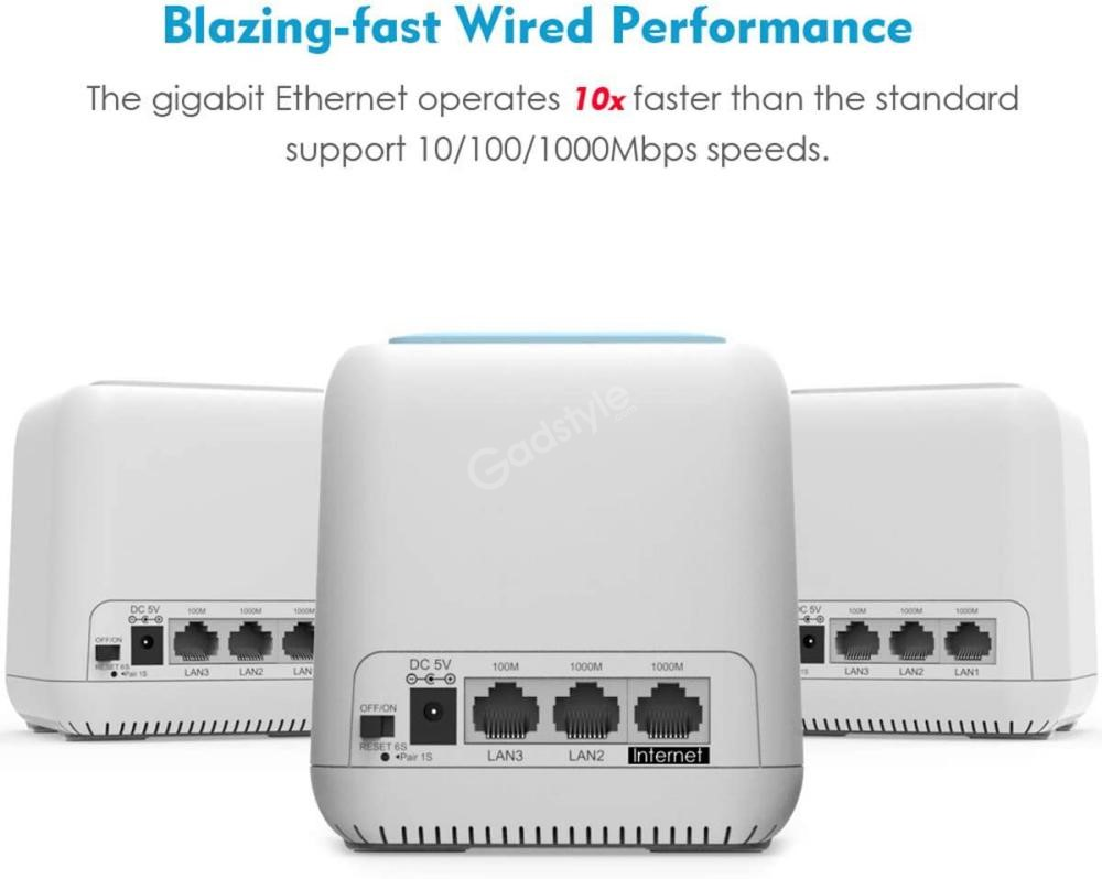 Wavlink Wn535k3 Ac1200 Dual Band Whole Home Wifi Mesh Router (5)