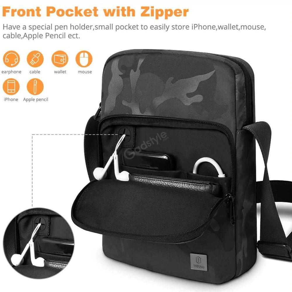 Wiwu Camouflage Crossbody Large Capacity Waterproof Shoulder Messenger Bag (2)