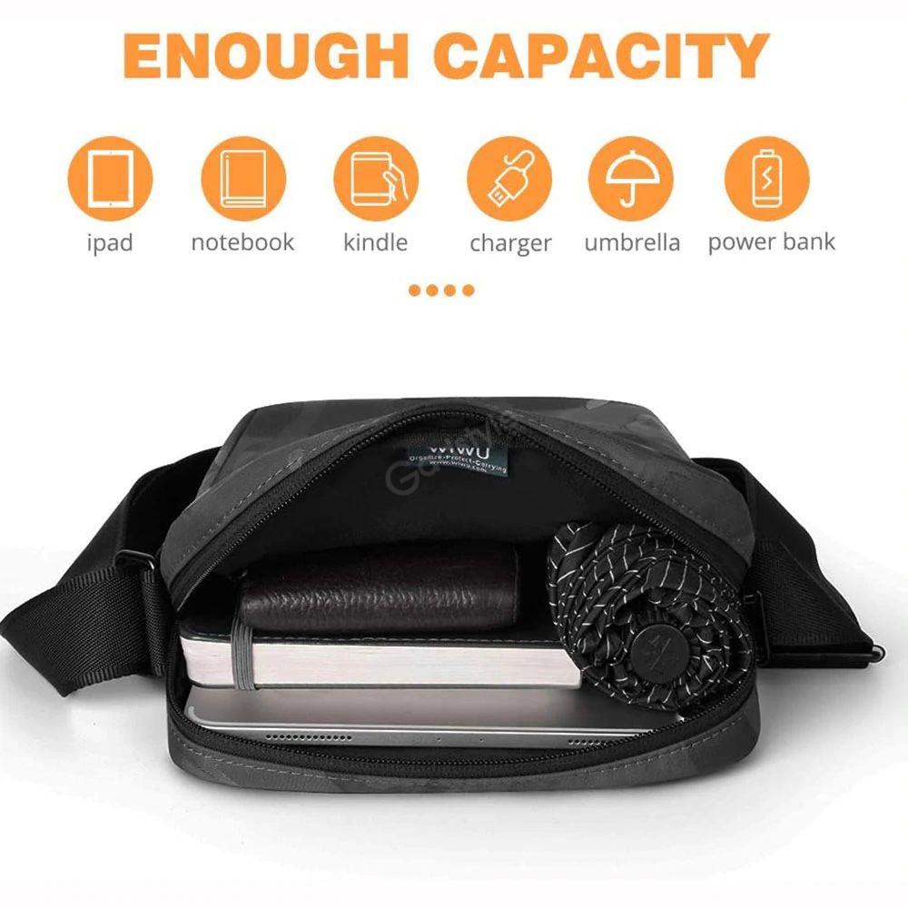 Wiwu Camouflage Crossbody Large Capacity Waterproof Shoulder Messenger Bag (3)