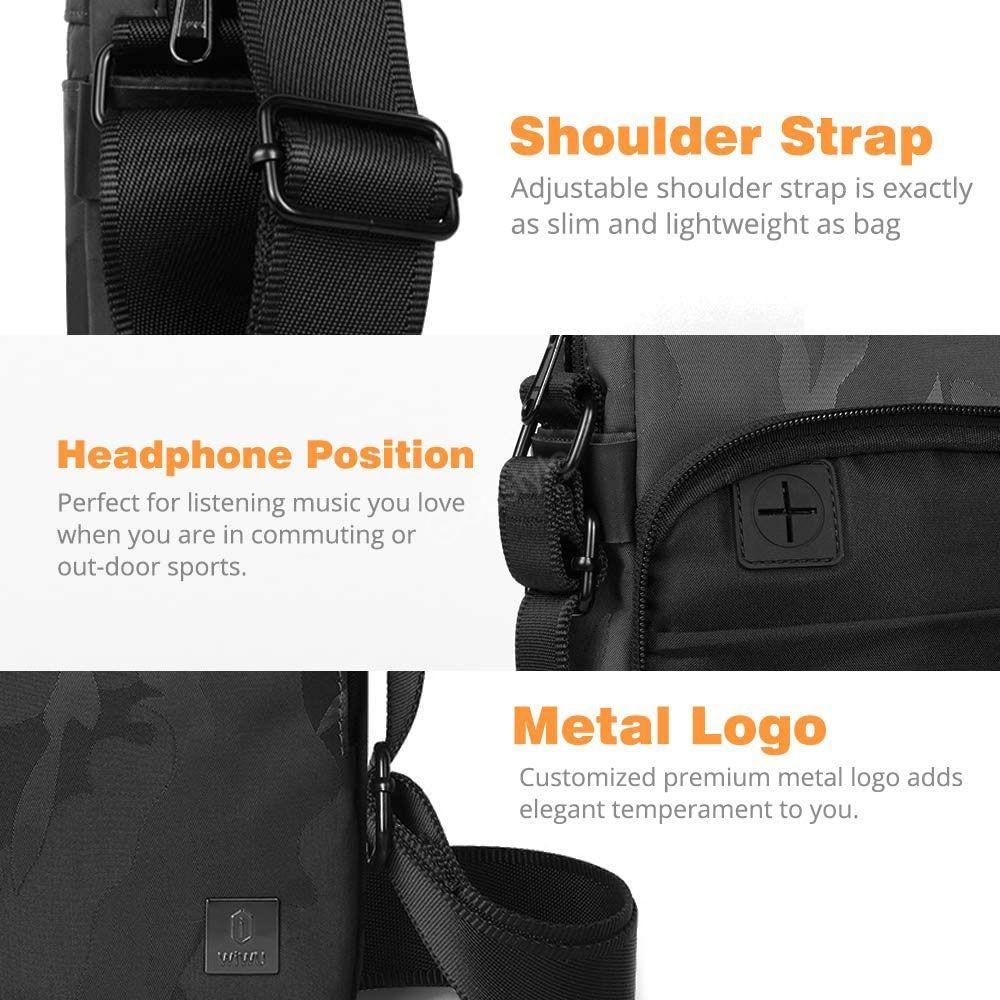 Wiwu Camouflage Crossbody Large Capacity Waterproof Shoulder Messenger Bag (6)