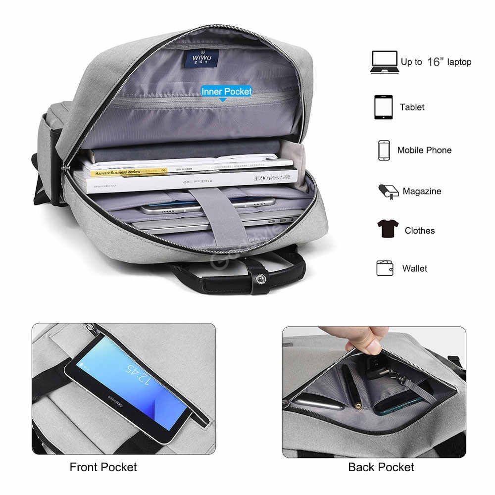 Wiwu Large Capacity Nylon Fashion Laptop Backpack (6)