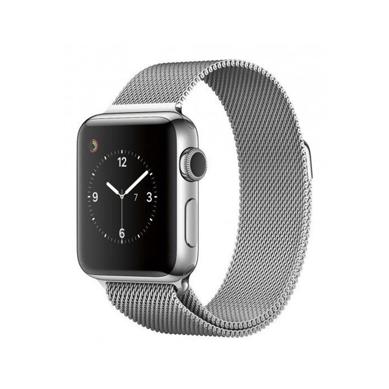 Wiwu Stainless Steel Magnetic Milanese Loop Band Strap For Apple Watch Silver (3)