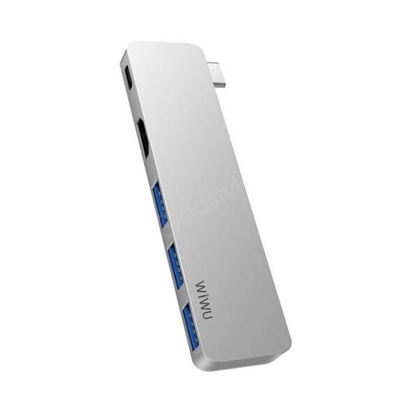 Wiwu T6 Pro 5 In 1 Type C Hub (1)