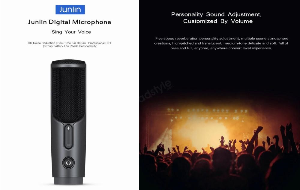 Xiaomi Junlin Hd Wired Mixer Digital Microphone Noise Reduction (1)