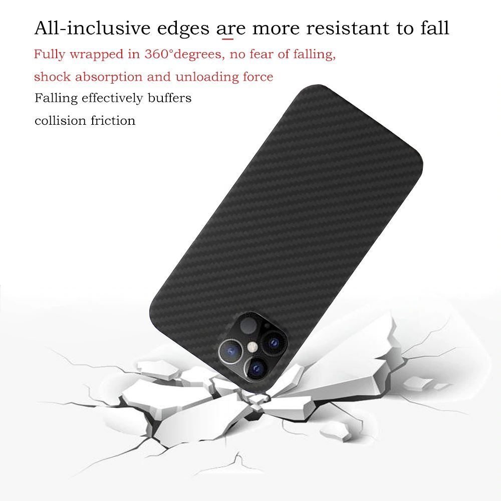Ytf Carbon Real Carbon Fiber Case For Iphone 12 Series (1)