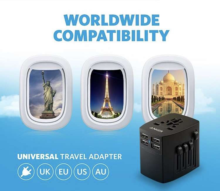 Anker Universal Travel Adapter With 4 Usb Ports (1)