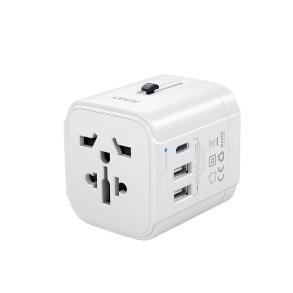 Aukey Pa Ta01 Universal Travel Adapter With Usb C And Usb A Ports (3)