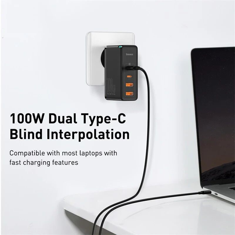 Baseus 100w Gan2 Pro Usb Type C Pd Fast Charger (1)