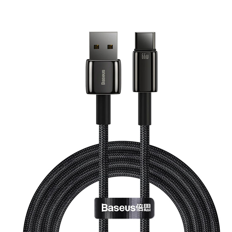 Baseus 66w Zinc Alloy Usb To Type C Tungsten Gold Fasting Charging Data Cable (7)