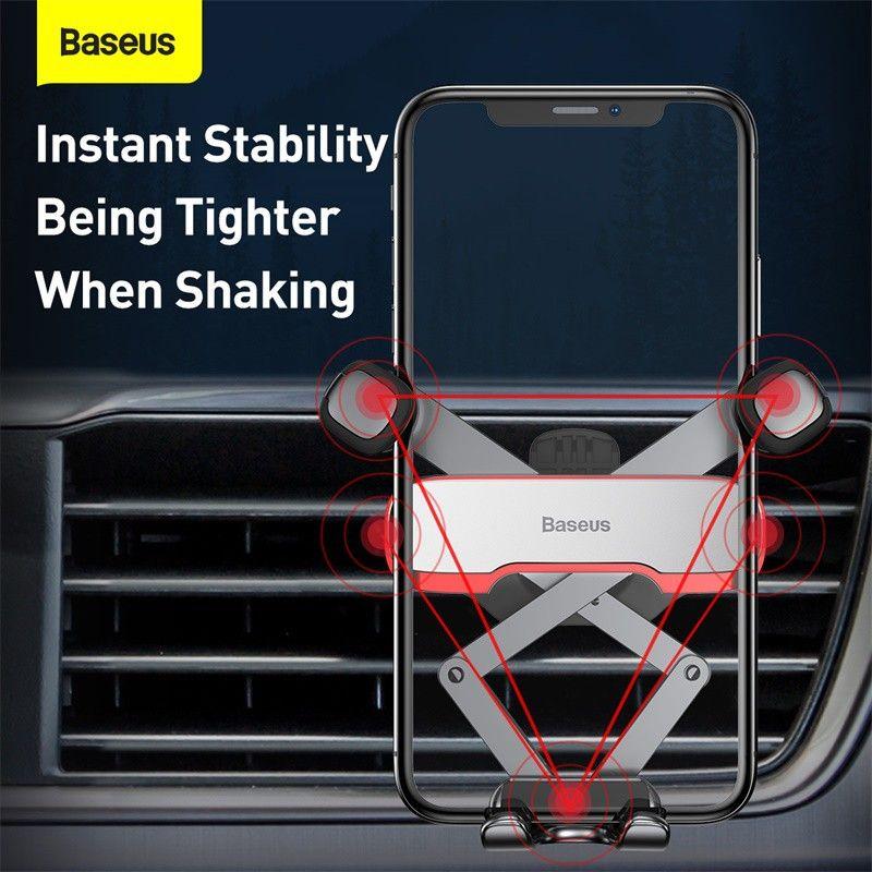 Baseus Lateral Gravity Car Mount Holder Horizontal Navigation Car Phone Bracket (5)