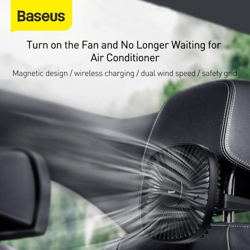 Baseus Magnetic Car Fan Cooler Car 360 Degree Rotating Silent Cooling (2)