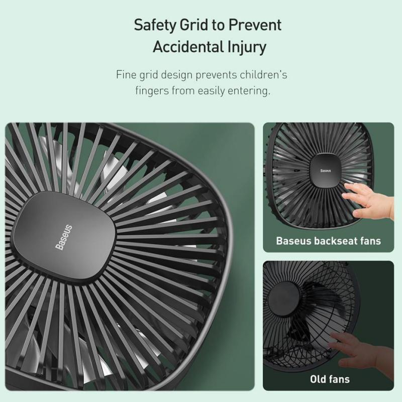 Baseus Magnetic Car Fan Cooler Car 360 Degree Rotating Silent Cooling (3)