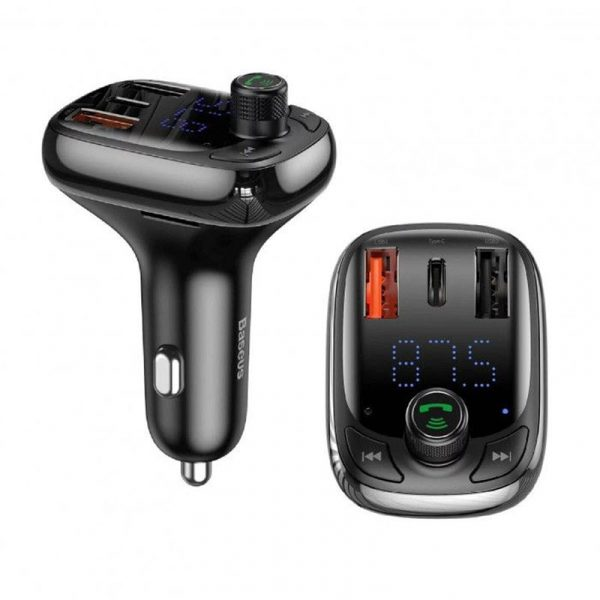 Baseus S 13 T Type Bluetooth Mp3 Car Charger Standard Edition (5)
