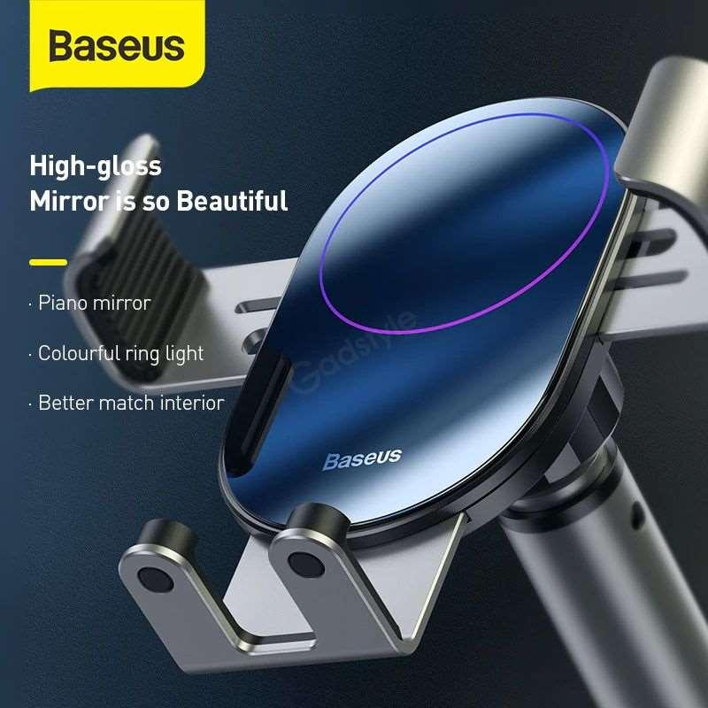 Baseus Simplism Gravity Car Mount Holder With Suction Base (6)