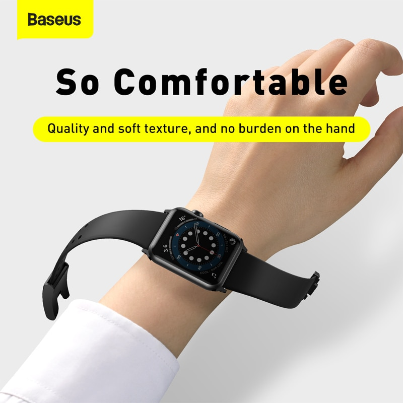 Baseus Watch Strap Soft Silicone Band For Apple Watch Series 3 4 5 6 Se 42mm 44mm (1)
