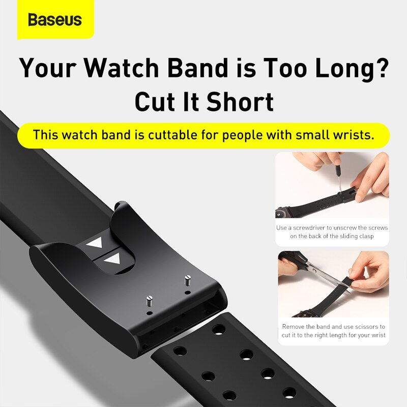 Baseus Watch Strap Soft Silicone Band For Apple Watch Series 3 4 5 6 Se 42mm 44mm (4)