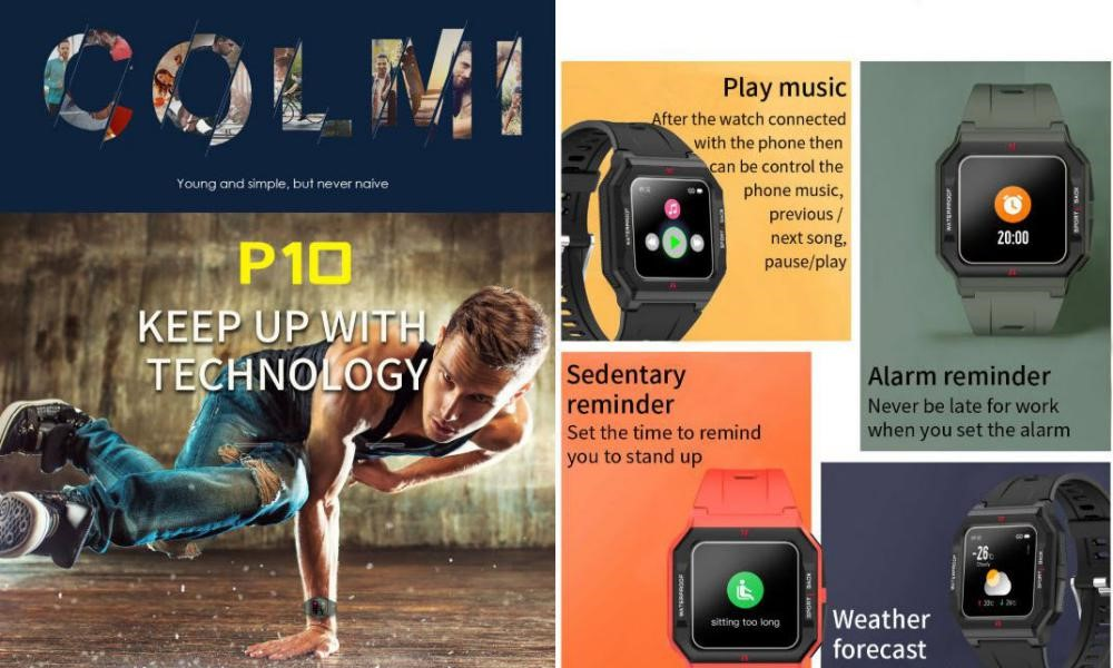 Colmi P10 Smart Watch Ip67 Waterproof (2)