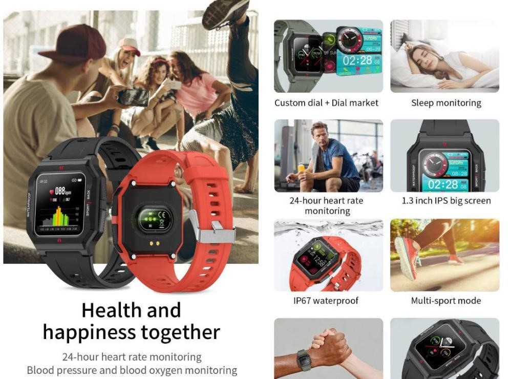 Colmi P10 Smart Watch Ip67 Waterproof (3)
