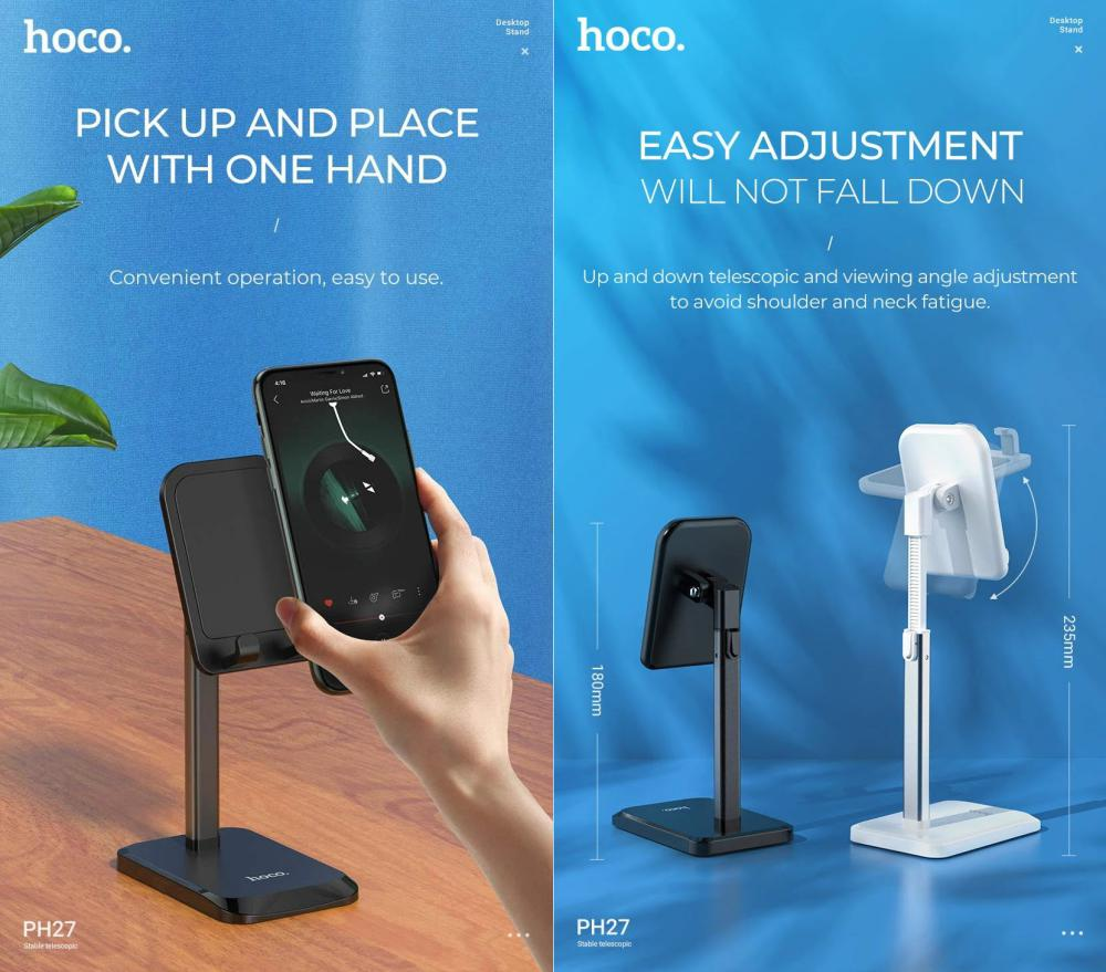Hoco Ph27 Stable Telescopic Desktop Mobile Phones And Tablet (3)