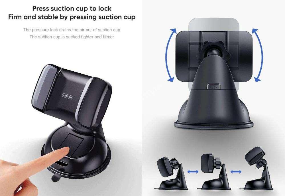 Joyroom Jr Ok1 Single Pull Suction Cup Mobile Phone Car Mount Holder (3)