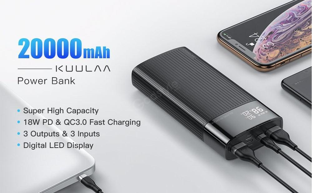 Kuulaa Power Bank 20000mah Type C Qc Pd 3 0 (4)