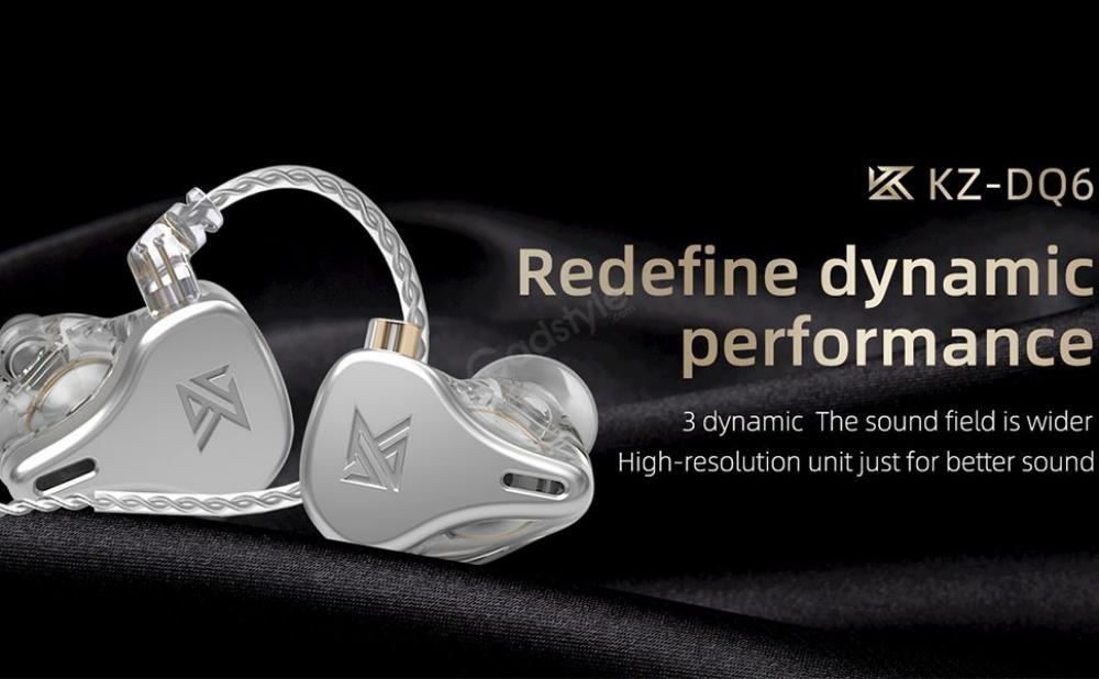 Kz Dq6 3dd Array Type Hifi In Ear Earphones (4)
