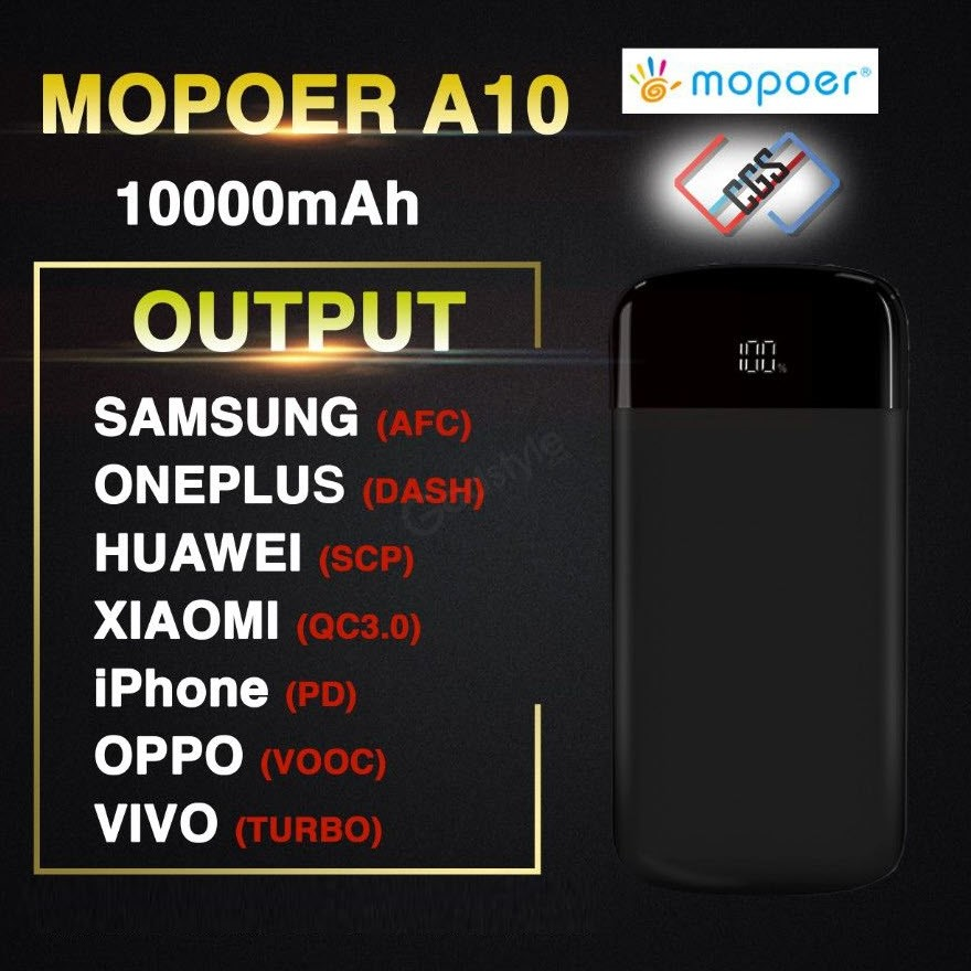 Mopoer A10 Dash Charge 10000mah Power Bank (3)