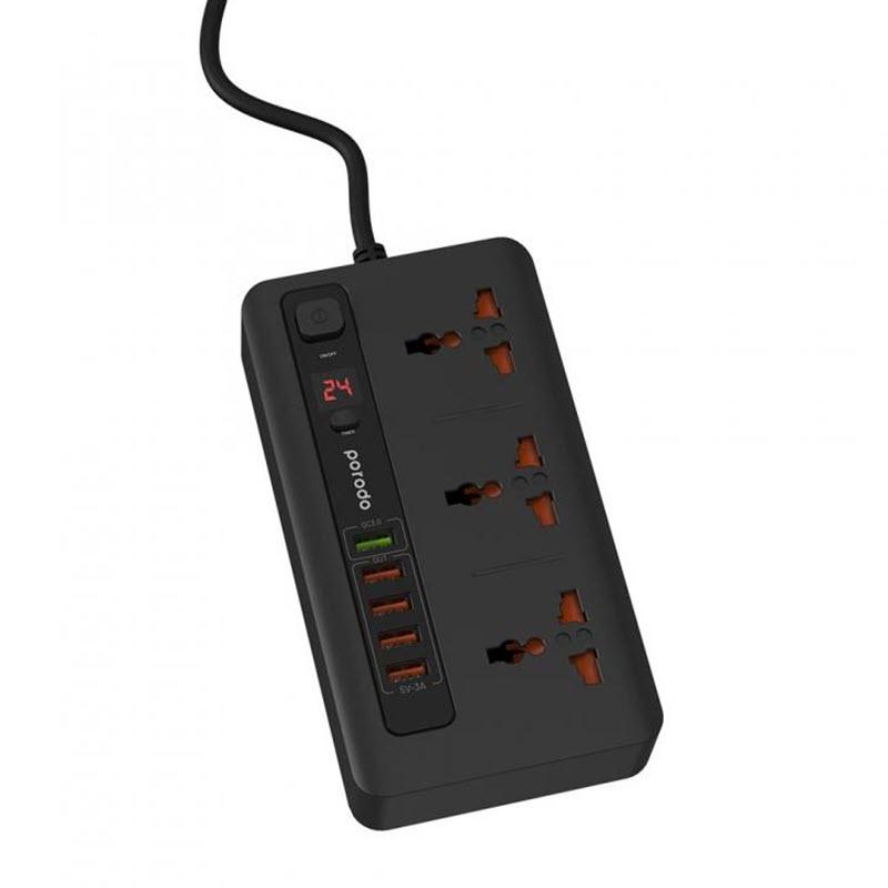 Porodo 33w Power Socket Strip 4 Usb Port Quick Charge 3 0 (5)