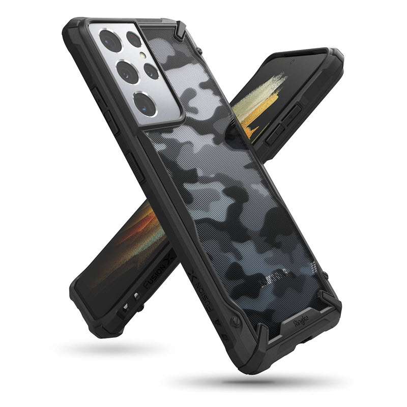 Ringke Fusion X Camo Case For Galaxy S21 Ultra (1)