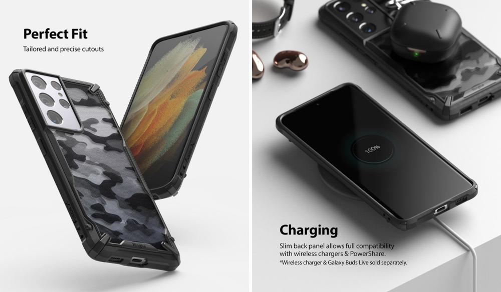 Ringke Fusion X Camo Case For Galaxy S21 Ultra (2)