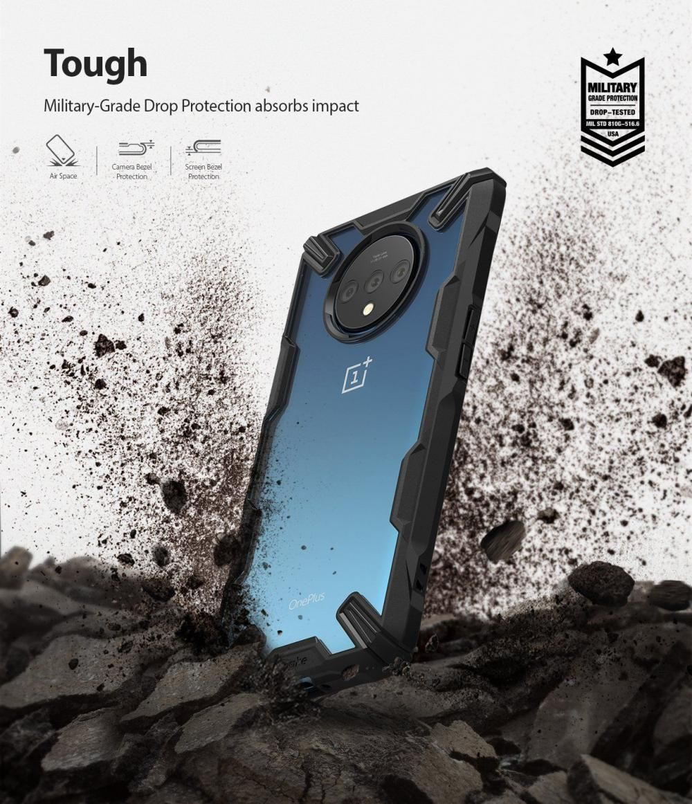 Ringke Fusion X Camouflage Military Grade Bumper Protective Case For Oneplus 7t (2)