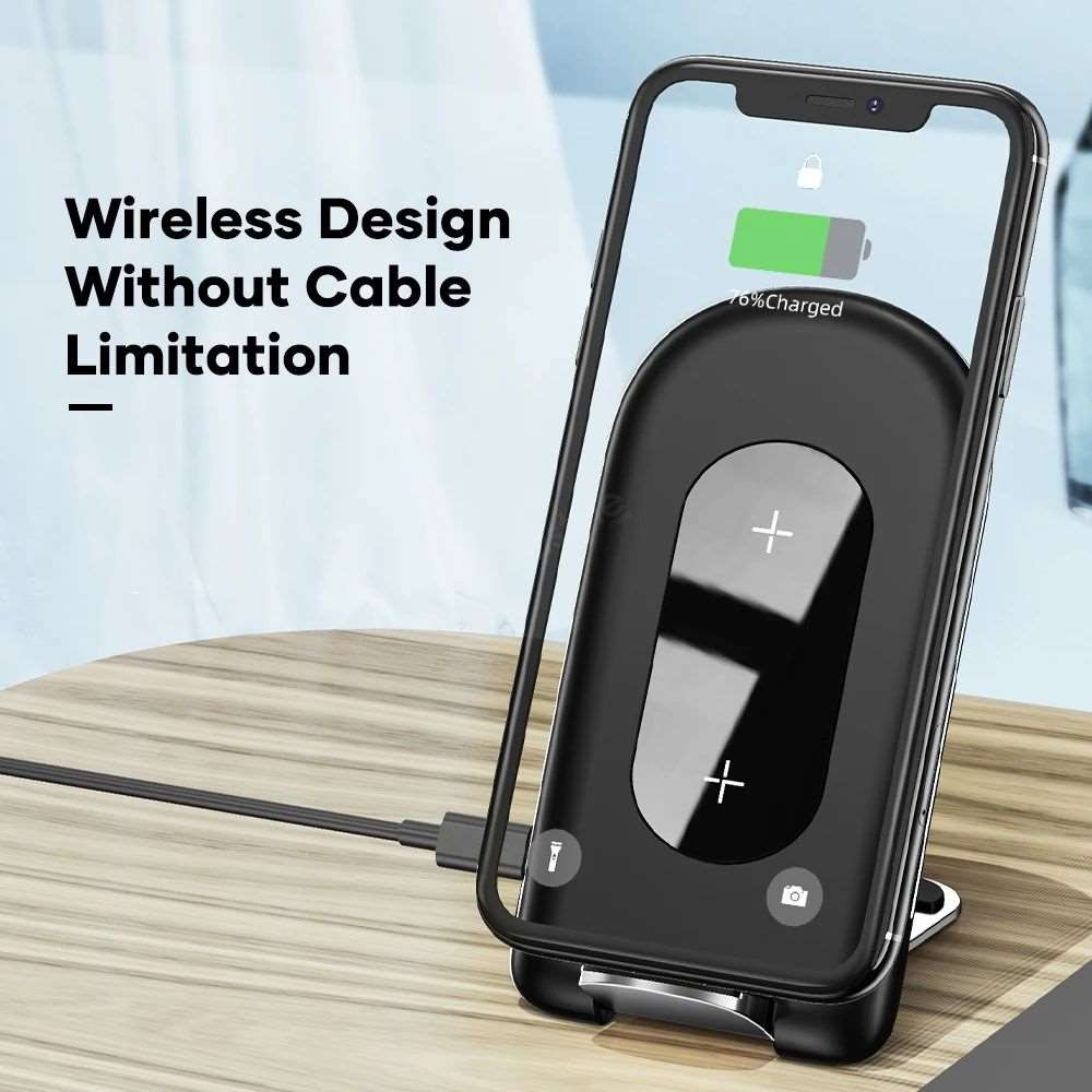 Rock W30 15w Foldable Desktop Stand Phone Holder (2)