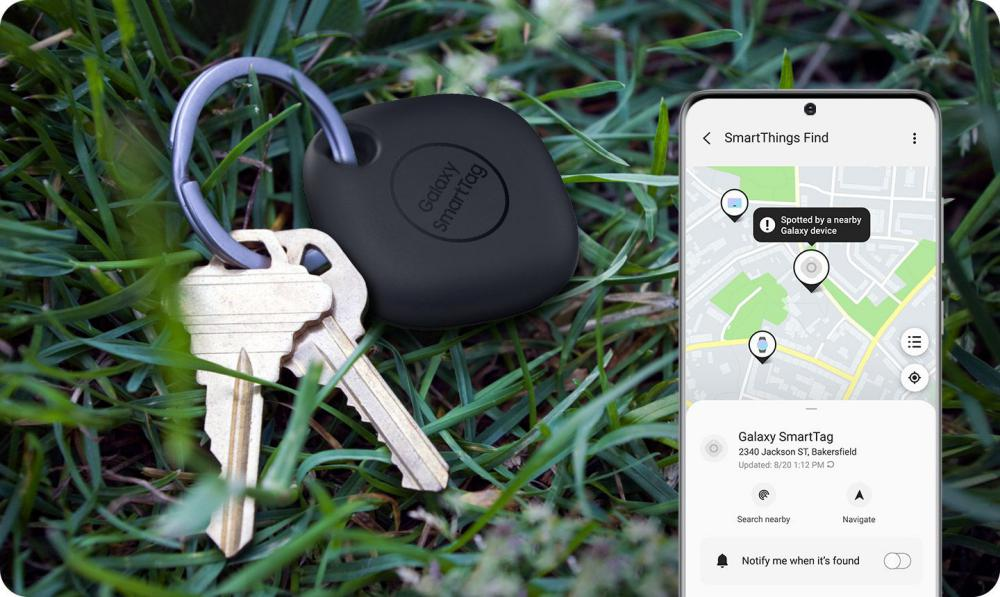 Samsung Galaxy Smarttag Bluetooth Tracker Black (1)