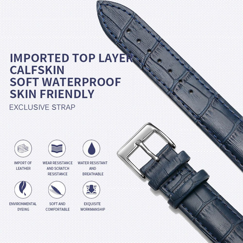 Soft Leather Watch Strap For 20mm 22mm Size (1)