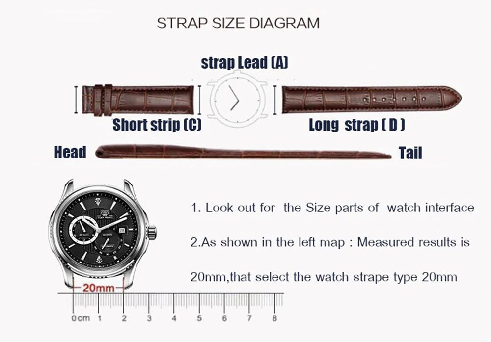 Soft Leather Watch Strap For 20mm 22mm Size (2)