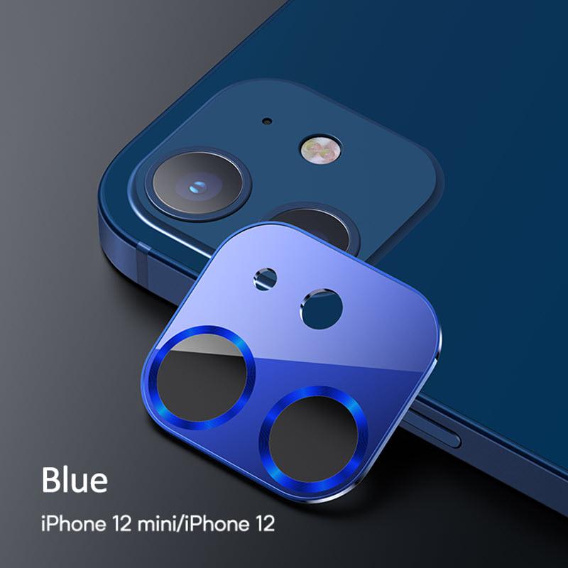 Usams Us Bh703 Metal Camera Lens Glass Film For Iphone 12 Blue (2)