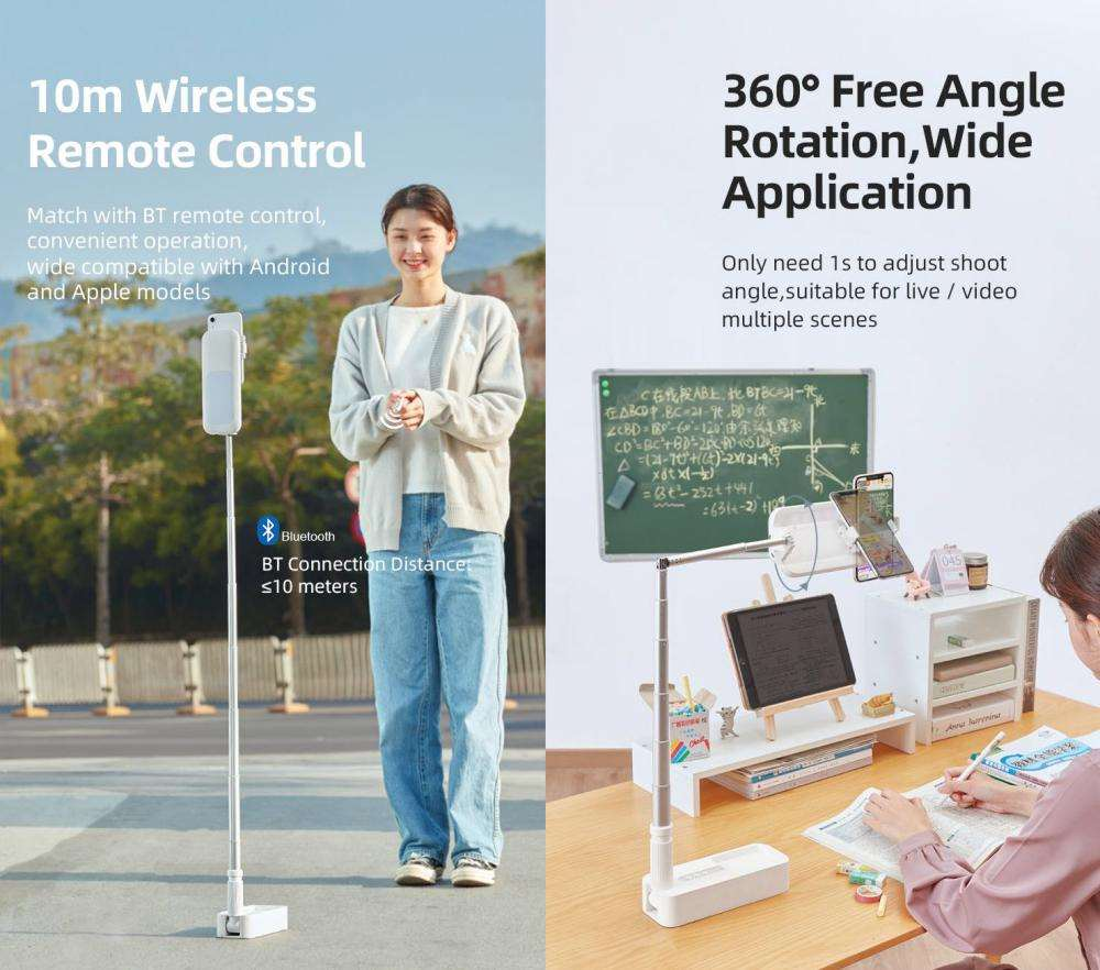 Usams Us Zb209 Portable Wireless Remote Control 3in1 Phone Holder Stand (4)