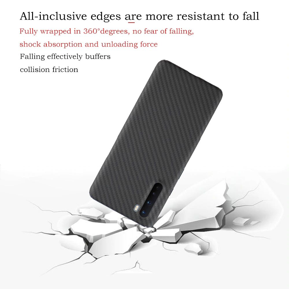 Ytf Carbon Real Carbon Fiber Bumper Case For Oneplus Nord (4)