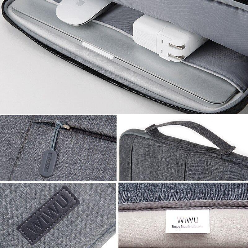 Wiwu Premium Nylon Fabric 360 Degree Protection Waterproof Laptop Sleeve(1)