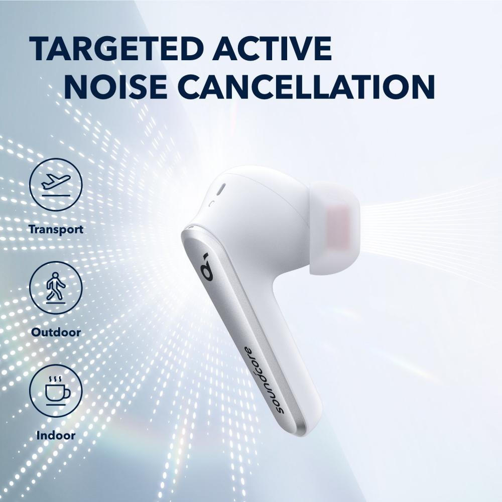 Anker Liberty Air 2 Pro Active Noise Cancelling True Wireless Earbuds Titanium White (5)