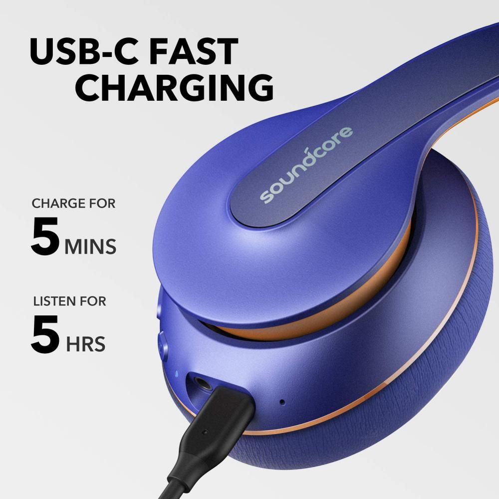 Anker Soundcore Life Q10 Wireless Bluetooth Headphones Blue (5)