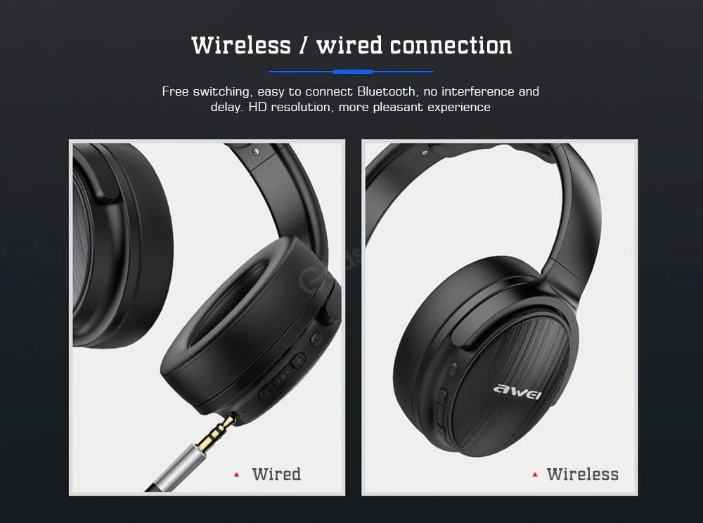 Awei A780bl Bluetooth 5 0 Wireless Wired Headphones (1)