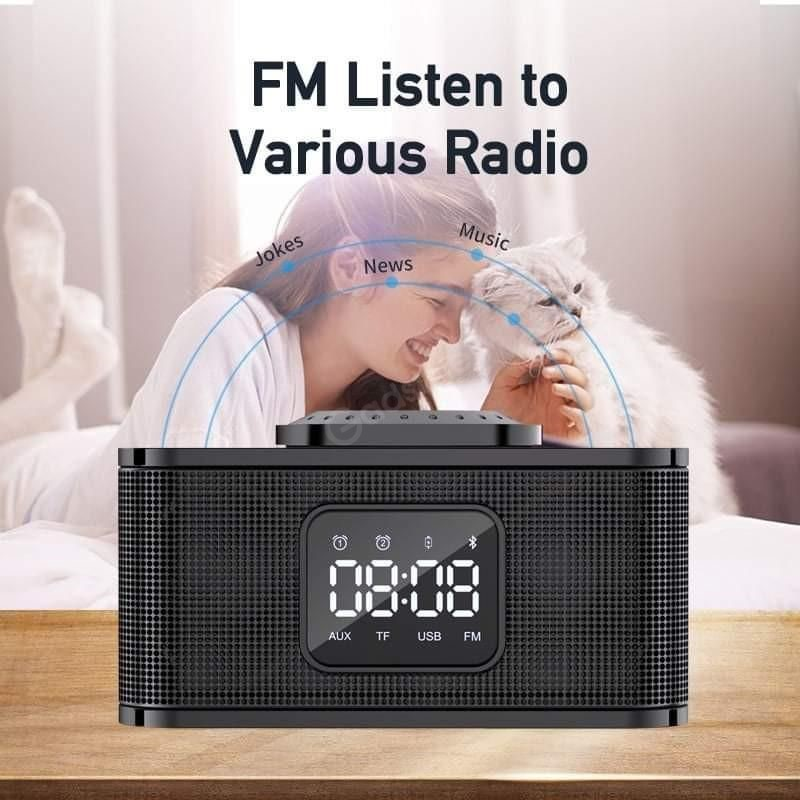 Awei Y332 Multifunction Wireless Speaker With Power Bank And Clock (7)
