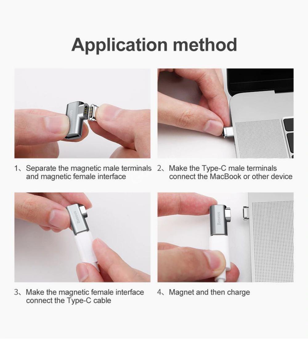 Baseus 86w Mini Magnetic Usb Type C Charging Adapter (3)