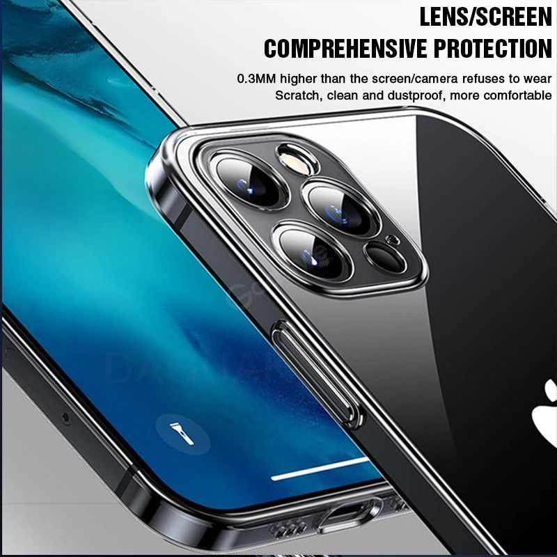 Baseus Camera Lens Protection Clear Phone Case For Iphone 12 12 Mini 12 Pro 12 Pro Max (4)